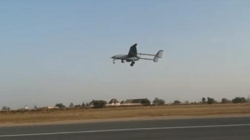 The Drone taking flight