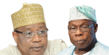 Ex military head of state, General Ibrahim Babangida and former President Olusegun Obasanjo. [Photo credit: Newtelegraph]