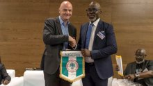 FIFA President, Gianni Infantino with NFF President, Amaju Pinnick