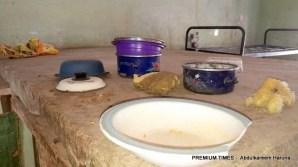 Abandoned wares belonging to the Dapchi schoolgirls