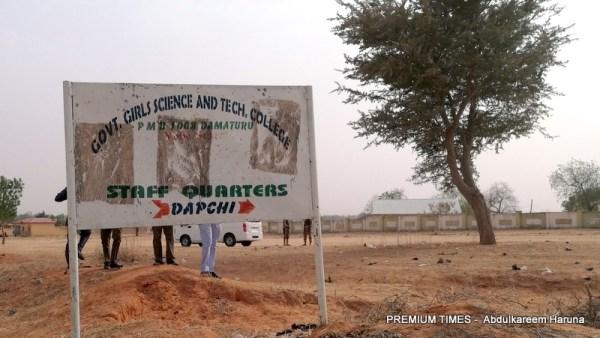 Signpost of GGSTC Dapchi