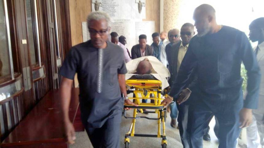 Image result for Metuh Arrives Trial in a Stretcher, Gets Case Adjourned