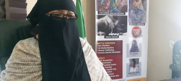 Mama Boko Haram, Aisha Wakil during interview with PRNigeria
