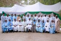 President Buhari receives in audience Katsina State Senior Citizen's Forum in his Daura Home on 18th Feb 2018
