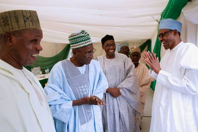 President Buhari receives in audience Katsina State Senior Citizen's Forum in his Daura Home on 18th Feb 2018