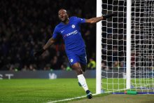 Victor Moses celebrates goal