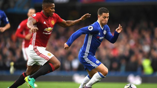 Antonio Valencia & Eden Hazard [Photo Credit: Chelsea FC]