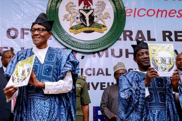 Nigeria President, Muhammadu Buhari and Plateau State governor, Simon Lalong