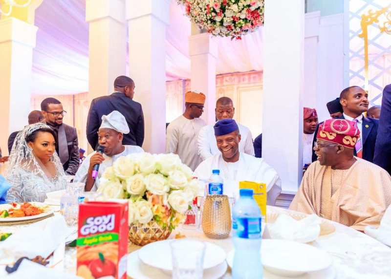 Osinbajo Wife Aisha Buhari Governors Ministers Attend Wedding