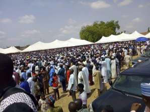 Pictures of the funeral rights of the former governor of Nasarawa state, Aliyu Akwe- Doma.