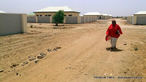 Habiba Yakubu, one of the deprived women wandering in the newly built village