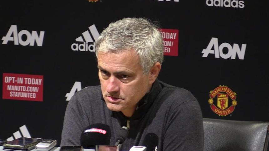 Manchester United coach, Jose Mourinho. [Photo credit: Skysports]