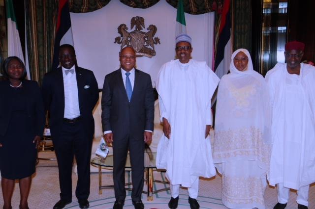 Umrah Banner: PHOTOS: Buhari Receives ECOWAS President In Abuja