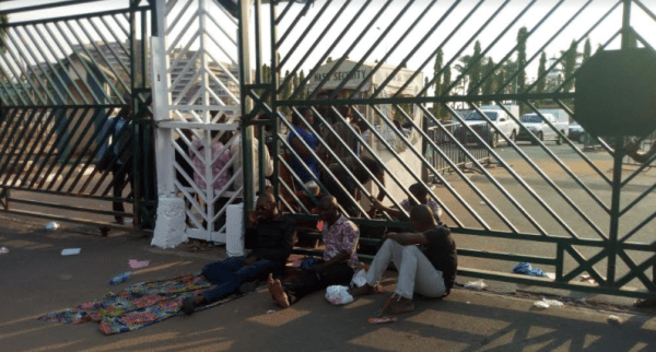 Physically-challenged persons protest at National Assembly