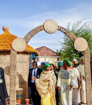 Mrs Dolapo Osinbajo in Kano for the Kamu Wedding Ceremony of @FatimaGanduje and @AboAbiAji. 02 Mar 2018. #Faaji2018 📸@adesuwa_iyare