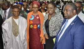 Kaduna State Governor, Mallam Nasir El Rufai (left); Minister of Finance, Mrs. Kemi Adeosun and Chairman Federal inland Revenue Service, Mr. Babatunde Fowler, during an interactive session on Voluntary Assets and Income Declaration Scheme in Kaduna on Thursday, 1st March, 2018 . [Photo credit: Ministry of Finance]