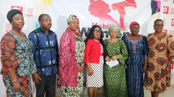 From(L-R) Representative of Iyalode Alaba Lawson, Yinka Odumakin, Hajia Adiza Umoru, Janet Mba Afolabi, Remi Adikwu, Prof Remi Sonaiya, Toun Okewale Sonaiya