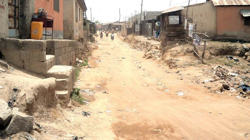 A typical street in a slum in Abuja (Photo Credit: Guardian Nigeria)