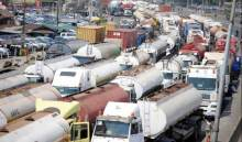 Apapa traffic gridlock caused by truck drivers (Photo Credit: RCCG Traffic Squad)