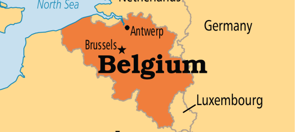 Belgium on map