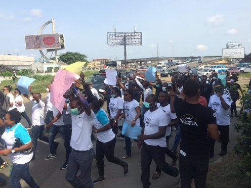 Campaign walk against air polution in Rivers