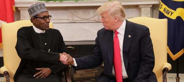 Donald Trump and Nigerian President, Muhammadu Buhari