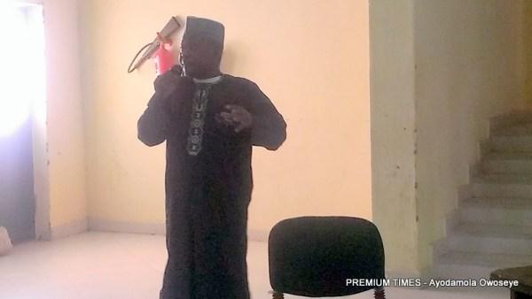 Kabiru Mustapha given his presentation