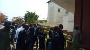 Senators arrive National Hospital to visit Dino Melaye