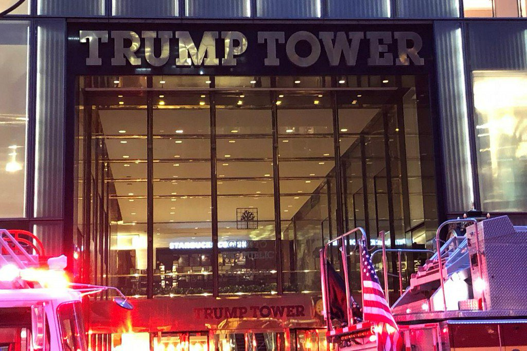 Watch as fire breaks out at Trump Tower in NYC