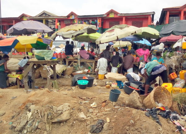 The Araromi Oke-Odo market in Lagos