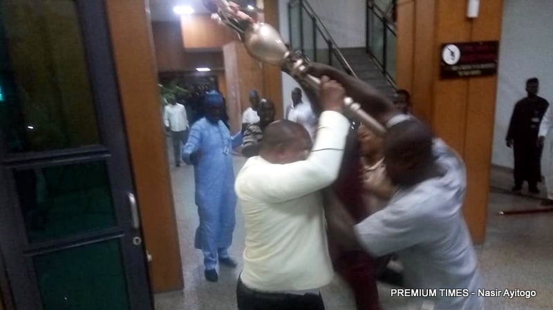 Police hand stolen mace back to Senate