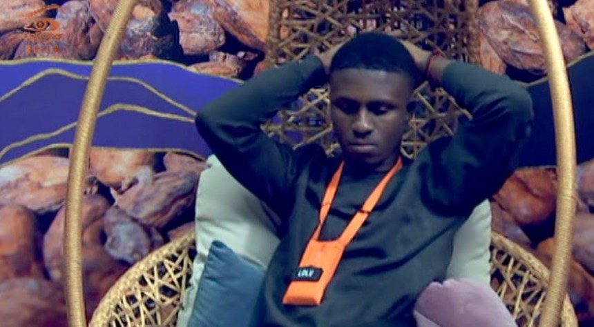 Lolu pictured during his diary session in BB Naija house on Tuesday