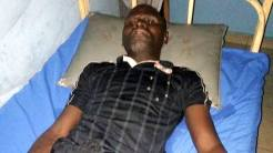 Attacked referee in a hospital ward