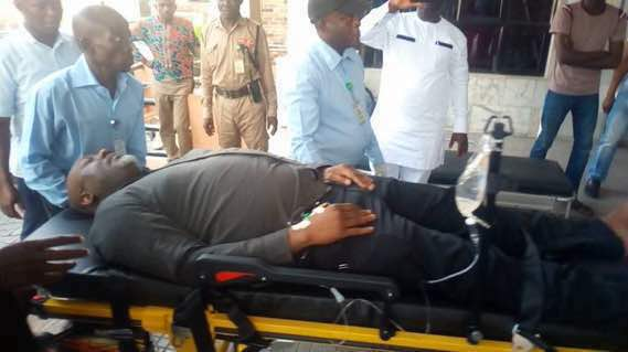 Saraki, Senators Visit Dino Melaye In National Hospital