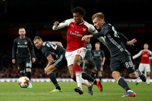 Alex Iwobi of Arsenal FC