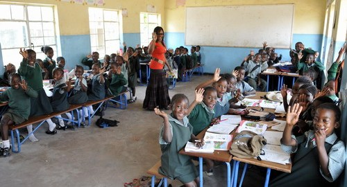 A school in Zambia used to illustrate the story