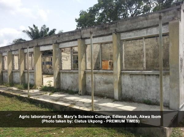 Agric laboratory at St. Mary's Science College, Ediene Abak, Akwa Ibom (Cletus Ukpong)