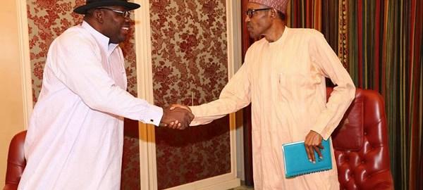 Gov Dickson visits President Buhari