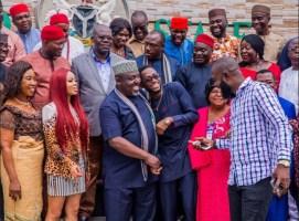 Miracle, Nina and Governor Okorocha of Imo State