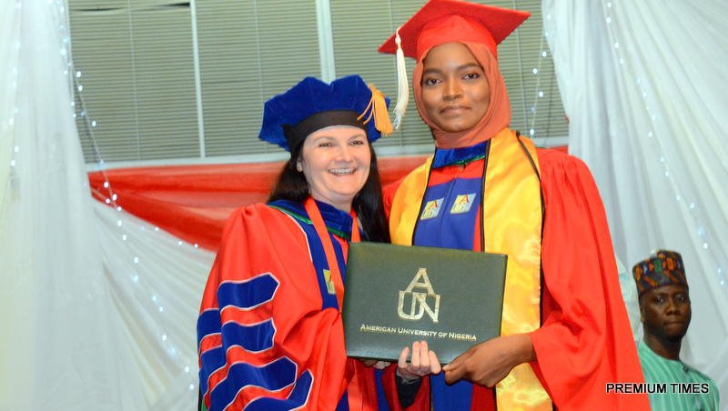 Ms Adamu and the AUN president, Ms Dekle. Photo courtesy of AUN