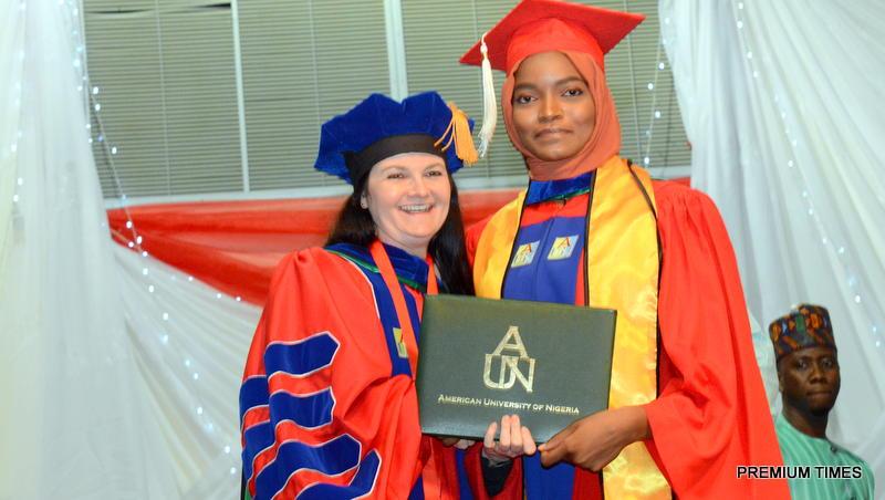 Ms Adamu and the AUN president, Ms Dekle. Photo courtesy of AUN