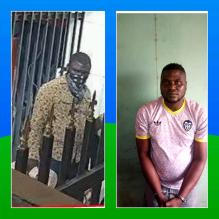 Micheal Adikwu, a native of Apa LGA Benue State and a dismissed police CPL who was arrested by the Police in 2012 and charged to Court in Kwara State for Compromising by releasing some wanted Armed Robbers. He had spent three years in prison and subsequently found his way out in 2015 and became a notorious armed robber. He was arrested again by IRT Operatives in Kwara State two weeks ago.