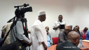 Senator Ali Ndume at the investigative hearing