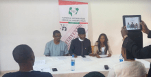 Members of the National Intervention Group of Nigeria speaking at the event