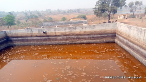 Murky water at one of the dam compartments-001
