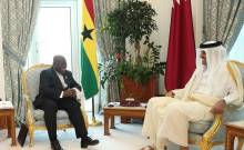 Ghana President, Nana Addo Dankwa Akufo-Addo, paid a courtesy call on the Emir of Qatar (Photo Credit: Ghanalive.TV)