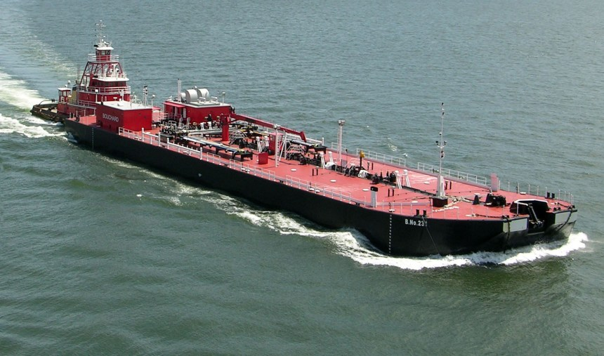 Oil barge used to illustrate the story. [Photo credit: Myanmar Business Today]