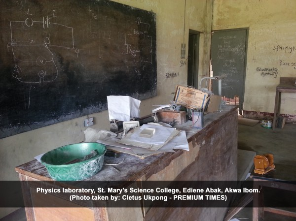 Physics laboratory, St. Mary's Science College, Ediene Abak, Akwa Ibom. (Cletus Ukpong)