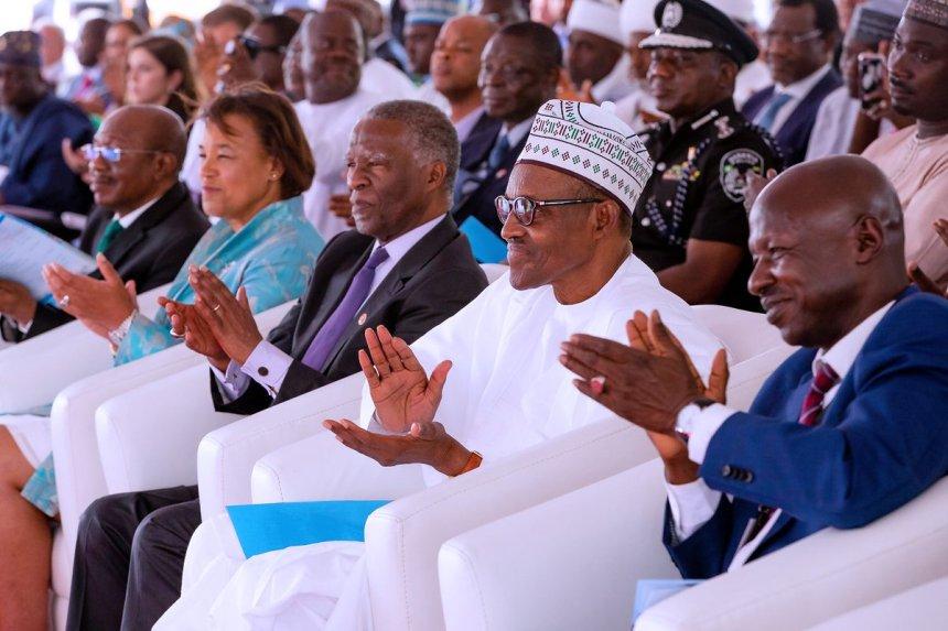 President Muhammadu Buhari commissioning the EFCC Head Office