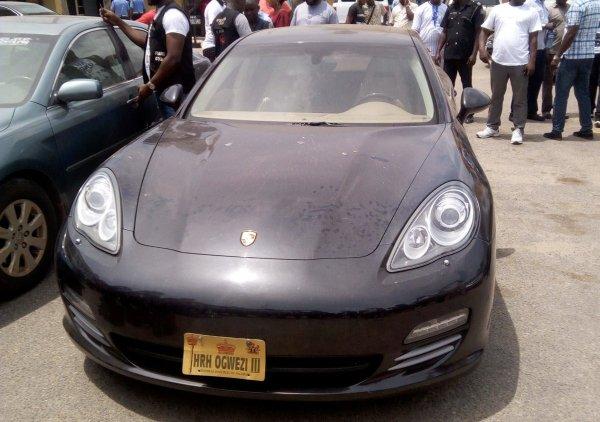 The retrieved Porsche